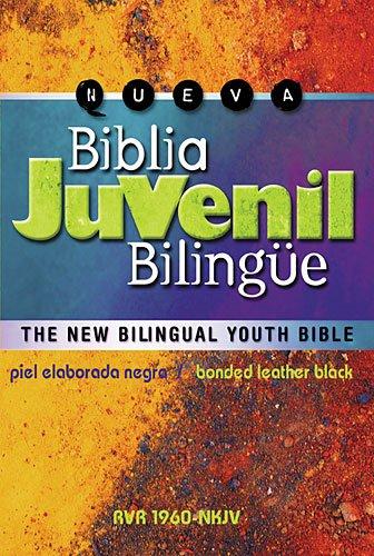 Biblia Juvenil Biling?e-piel Elaborada Negra Rvr 1960-nkjv: Grupo Nelson