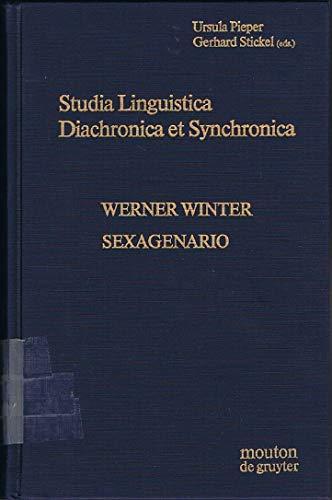 9780899250618: Studia Linguistica Diachronica Et Synchronica (Trends in Linguistics: Studies & Monographs)