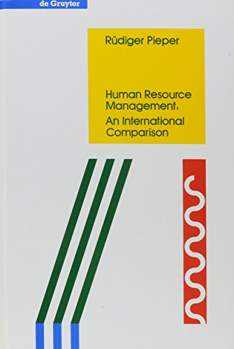 9780899257204: Human Resource Management: An International Comparison (Degruyter Studies in Organization)
