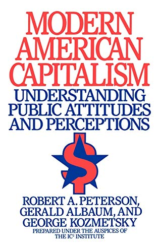 9780899306254: Modern American Capitalism: Understanding Public Attitudes and Perceptions