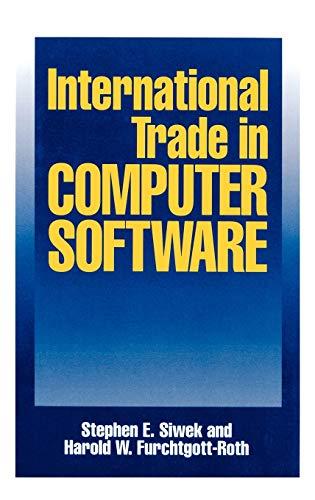9780899307114: International Trade in Computer Software