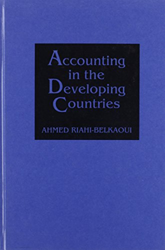 9780899308210: Accounting in the Developing Countries