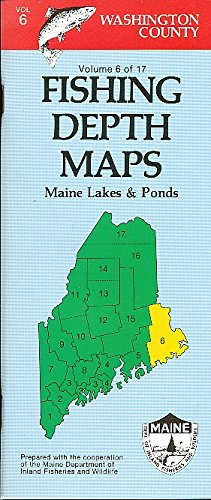 9780899331157: Fishing Depth Maps - Washington County Maine Lakes and Ponds