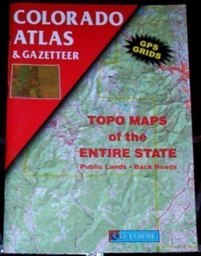9780899332734: Colorado Atlas & Gazetteer