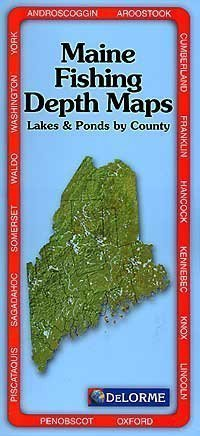 9780899333502: Maine Fishing Depth Maps