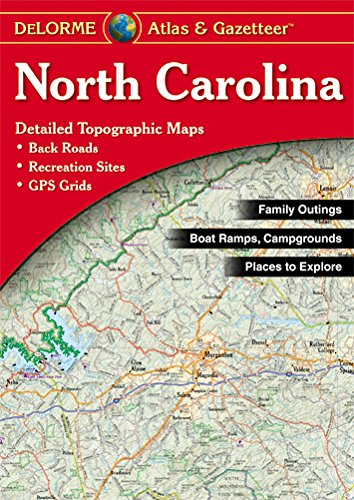 9780899334455: NORTH CAROLINA ATLAS & GAZETTE (DeLorme Atlas & Gazetteer)
