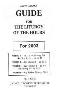 9780899424460: Liturgy of the Hours (St. Joseph Liturgy Guides)