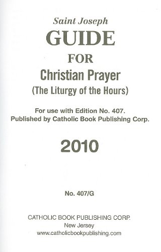 9780899425597: Saint Joseph Guide for Christian Prayer: The Liturgy of the Hours