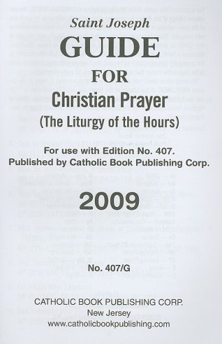 9780899425955: Saint Joseph Guide for Christian Prayer (The Liturgy of the Hours)