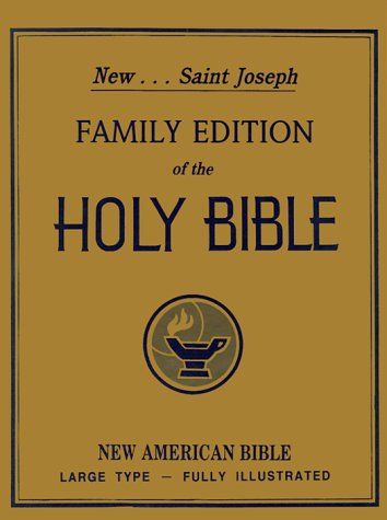 9780899426129: Saint Joseph Family Edition of the Holy Bible: The New American Bible, Large Type