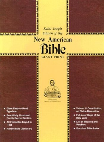 The New American Bible: Saint Joseph Edition Green Imitation Leather, Green Bonded Leather: ...