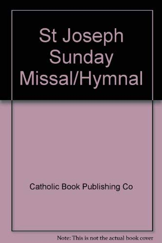 St Joseph Sunday Missal/Hymnal: Catholic Book Publishing