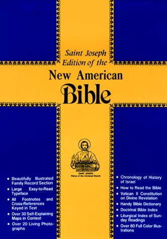 NABRE St Joseph Gift Edition Medium Size Bible-Brn Flexi Imit