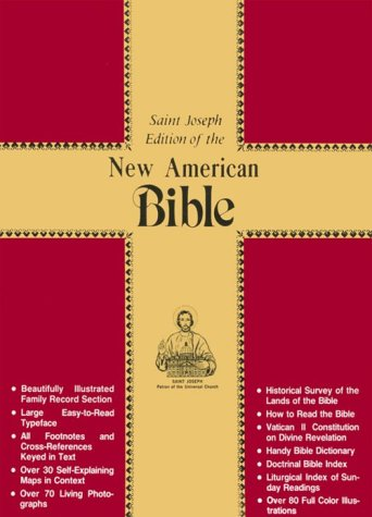 NABRE St Joseph Deluxe Gift Edition Full Size Bible-Blk Bond