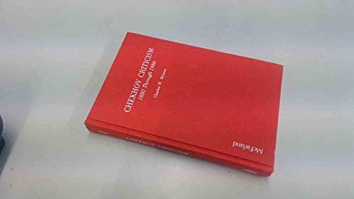 9780899503554: Chekhov Criticism, 1880 Through 1986