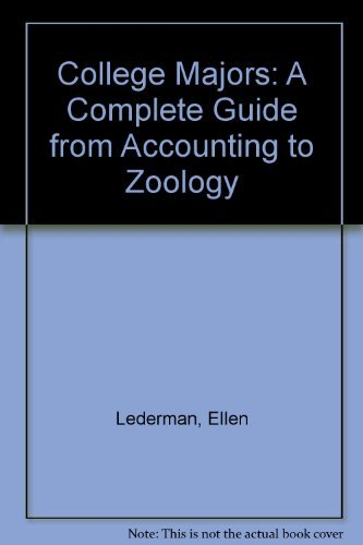 9780899504629: College Majors: A Complete Guide from Accounting to Zoology
