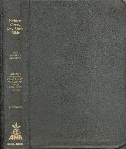 9780899576848: The Hebrew-Greek Key Study Bible/Nasb Genuine Black Leather Plain