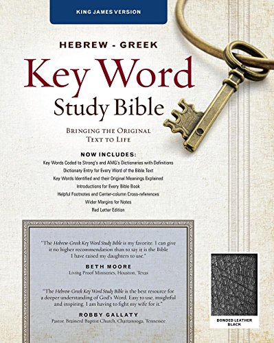 KJV Hebrew Greek Key Word Study-Blk Bond