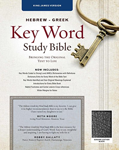 KJV Hebrew Greek Key Word Study-Blk Genuine
