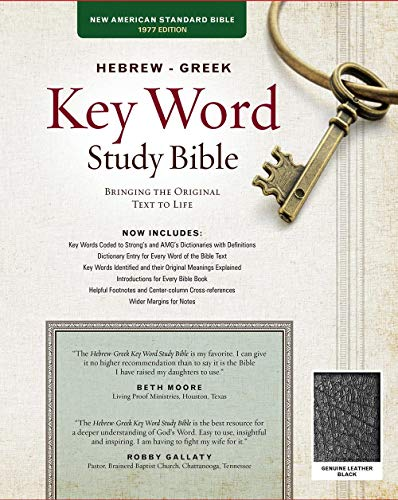 9780899577531: The Hebrew-Greek Key Word Study Bible: NASB-77 Edition, Black Genuine (Key Word Study Bibles)