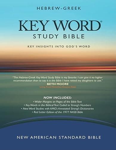 9780899577531: The Hebrew-Greek Key Word Study Bible: NASB-77 Edition, Black Genuine (Key Word Study Bibles)