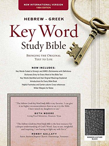 NIV Hebrew Greek Key Word Study-Blk Bond