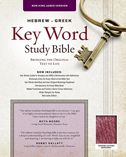 9780899578699: The Hebrew-Greek Key Word Study Bible: NKJV Edition, Burgundy Genuine Leather (Key Word Study Bibles)