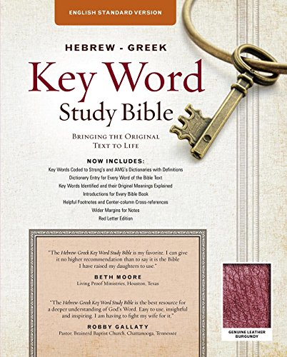 9780899579177: The Hebrew-Greek Key Word Study Bible: ESV Edition, Burgundy Genuine Leather (Key Word Study Bibles)