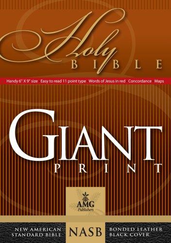 9780899579443: Giant Print Handy-Size Reference Bible: NASB 1977 Edition (AMG Giant Print Handy-Size Bibles)