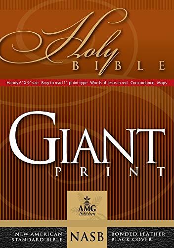 9780899579450: Giant Print Handy-Size Reference Bible: NASB 1977 Edition (AMG Giant Print Handy-Size Bibles)