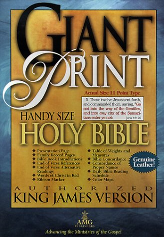 9780899579795: Giant Print Bible: Handy-Size