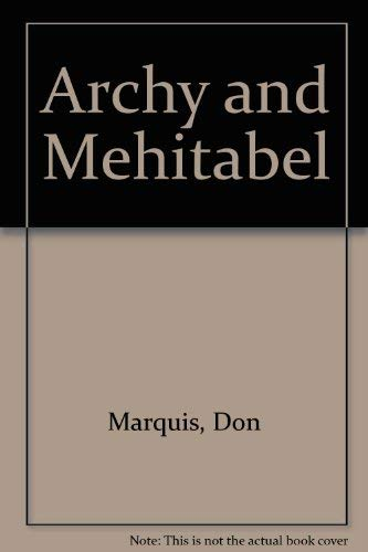 9780899665962: Archy and Mehitabel