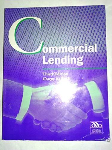 9780899824109: Commercial lending (American Bankers Association)