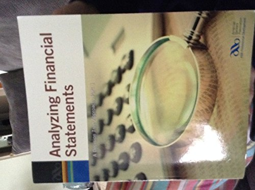 9780899826813: Analyzing financial statements