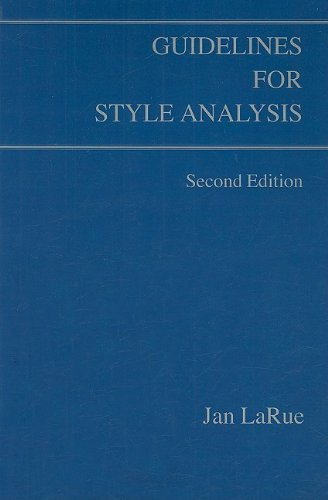 9780899900629: Guidelines for Style Analysis (Detroit Monographs in Musicology)