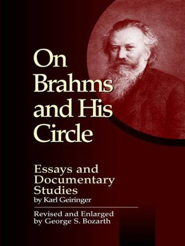9780899901367: On Brahms and His Circle: Essays and Documentary Studies by Karl Geiringer (Detroit Monographs in Musicology)