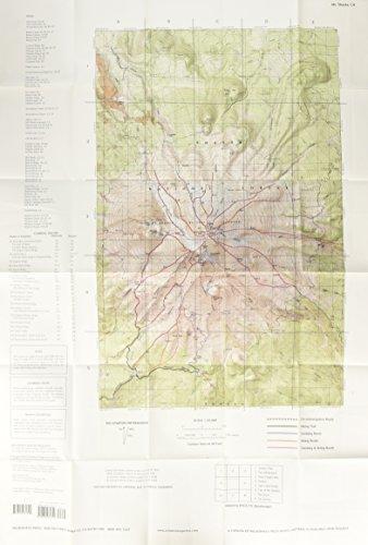 9780899972794 Mt Shasta Topographic Map Wilderness Press Maps