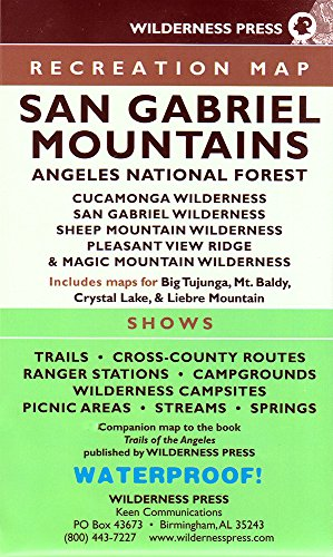 San Gabriel Mountains Recreation Map: Angeles National