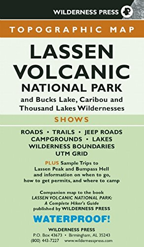 9780899974774: MAP Lassen Volcanic National Park: and Bucks Lake, Caribou, and Thousand Lakes Wildernesses