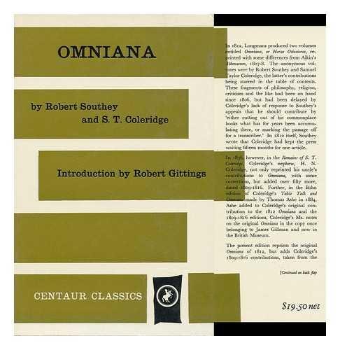 9780900000133: Omniana, or Horae Otiosiores (Classics)
