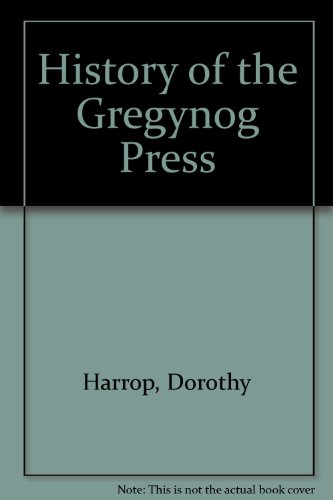 9780900002731: History of the Gregynog Press