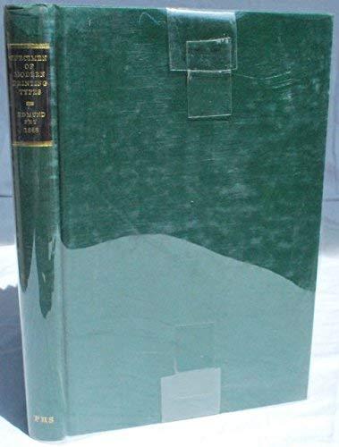 Specimen of Modern Printing Types (Publication): Edmund Fry