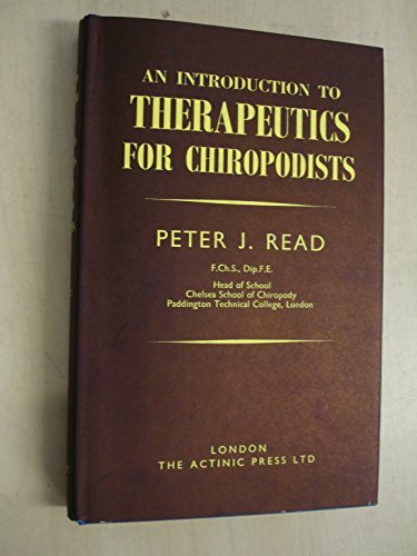 9780900024160: Introduction to Therapeutics for Chiropodists