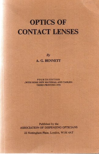 Optics of Contact Lenses (0900099119) by A. G. Bennet