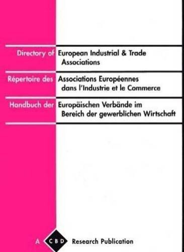 9780900246999: Directory of European Industrial and Trade Associations