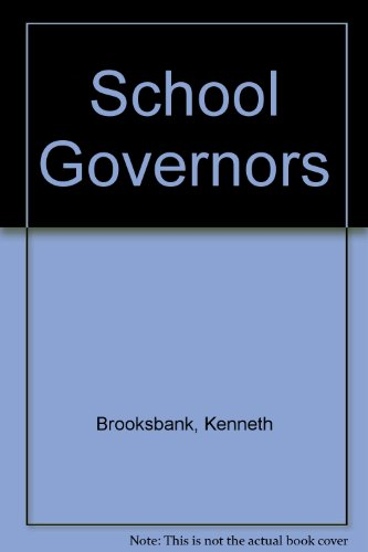 9780900313769: School Governors