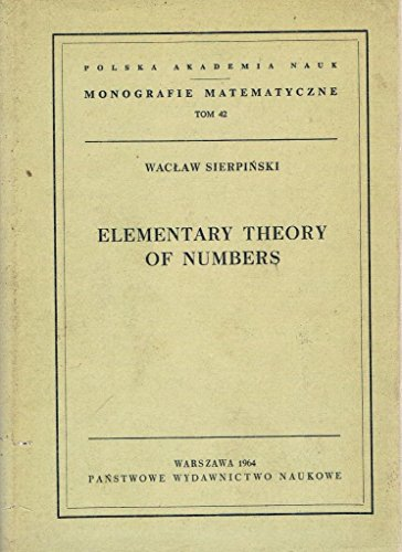 9780900318030: Elementary Theory of Numbers