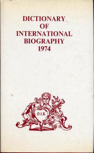 Dictionary of International Biography - Part II: Ernest Kay, editor