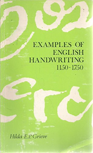 9780900360312: Examples of English Handwriting, 1150-1750