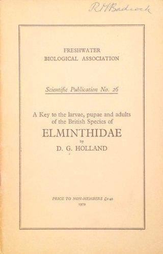 Freshwater Biological Association Scientific Publication: Key to: David Graham Holland